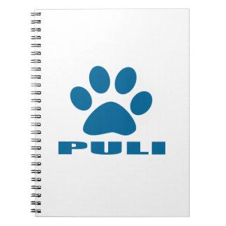 PULI DOG DESIGNS NOTEBOOKS