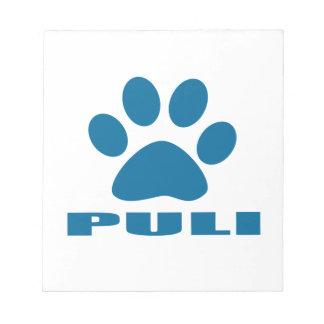 PULI DOG DESIGNS NOTEPAD