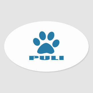 PULI DOG DESIGNS OVAL STICKER