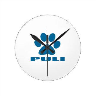 PULI DOG DESIGNS ROUND CLOCK