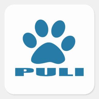 PULI DOG DESIGNS SQUARE STICKER