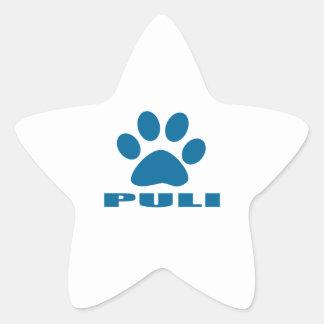 PULI DOG DESIGNS STAR STICKER