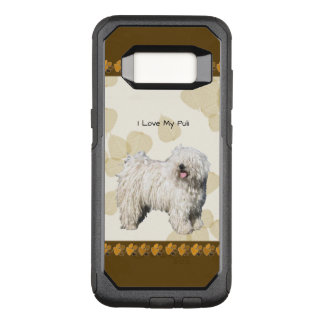 Puli on Tan Leaves OtterBox Commuter Samsung Galaxy S8 Case