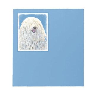 Puli Painting - Cute Original Dog Art Notepad