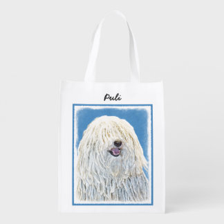 Puli Painting - Cute Original Dog Art Reusable Grocery Bag