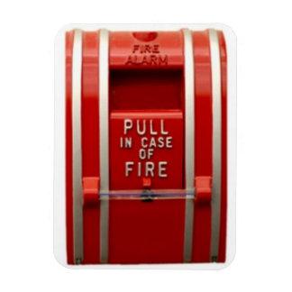 pull fire alarm rectangular photo magnet