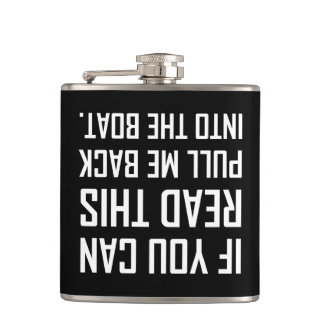 Pull Me Back Into The Boat Hip Flask