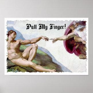 Pull My Finger Fart Humor Poster