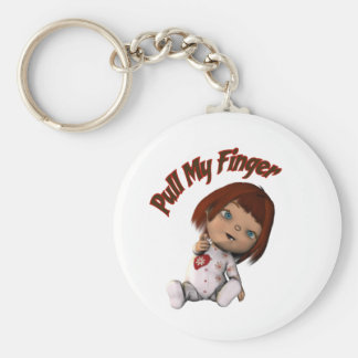 pull my finger keychain