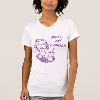 Pull My Finger Retro Housewife Purple T Shirts