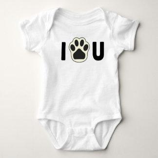 Pull My Paw -  Infant Creeper, White Baby Bodysuit
