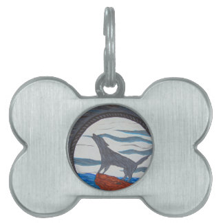 Pull Of The Moon Pet ID Tag