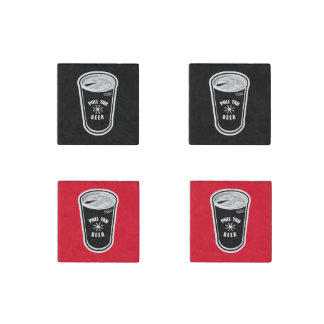Pull Tab Beer Can - Black & White Stone Magnets