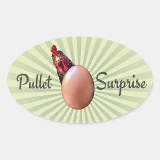Pullet Surprise Oval Sticker
