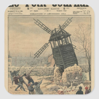 Pulling down one of the last windmills square sticker