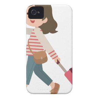 Pulling Luggage iPhone 4 Case