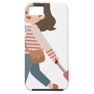 Pulling Luggage iPhone 5 Cover