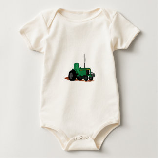 Pulling Tractor Baby Bodysuit