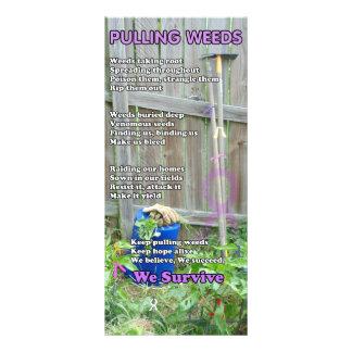 Pulling Weeds Poem Rack Card