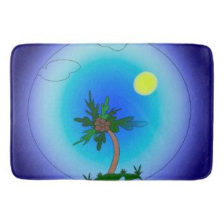 Pulm tree bath mat