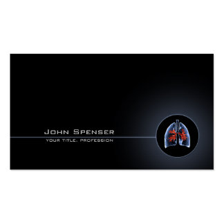 Pulmonary Doctor Simple Black Business Card