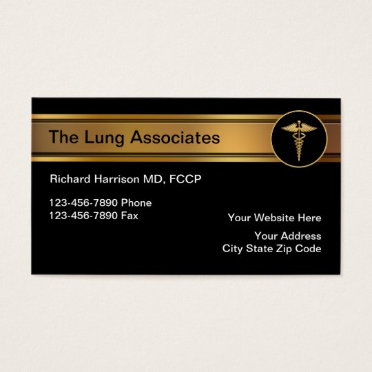 Pulmonologist Medical Business Cards
