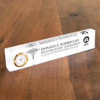 Pulmonologist | Respiratory Therapist Personalized Nameplate