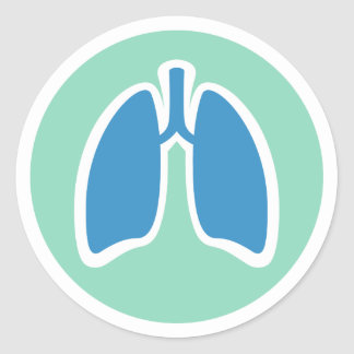 Pulmonology or pulmonologist lung logo round round sticker