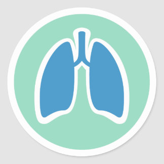 Pulmonology pulmonologist round lung stickers