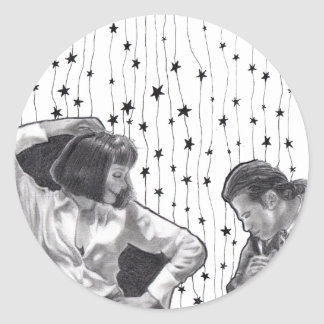 Pulp Dancing Round Sticker