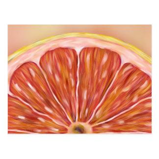 """Pulp Fiction"" macro grapefruit slice postcard"