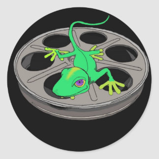 PulpLizard Reel Classic Round Sticker