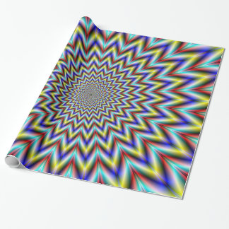 Pulsar in Red Yellow and Blue Wrapping Paper