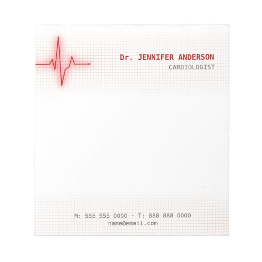 Pulse Heartbeat Cardiology notepad