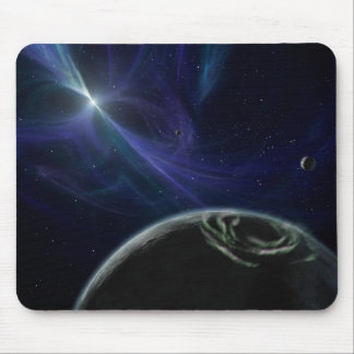 Pulsor and Planets in Orbit Mousepad