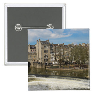Pulteney Bridge, Avon River,Bath, England 2 Inch Square Button