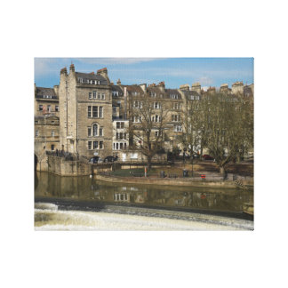 Pulteney Bridge, Avon River,Bath, England Canvas Print