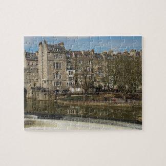 Pulteney Bridge, Avon River,Bath, England Jigsaw Puzzle
