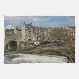 Pulteney Bridge, Avon River,Bath, England Kitchen Towel