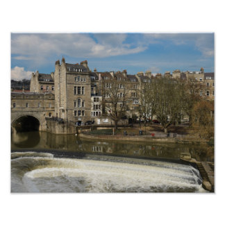 Pulteney Bridge, Avon River,Bath, England Poster