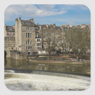 Pulteney Bridge, Avon River,Bath, England Square Sticker