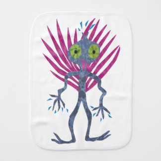 Pulu  the space friend burp cloth