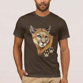 Puma de puma d'aquarelle, puma, animal t-shirt