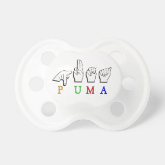PUMA FINGERSPELLED ASL NAME SIGN PACIFIER