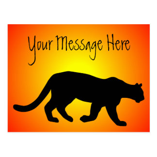 Puma Mountain Lion Cougar Sunfire Personalized Postcard