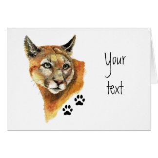 Puma, puma, voies d'animal de puma carte