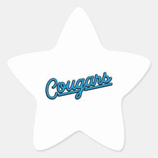 Pumas dans cyan sticker étoile