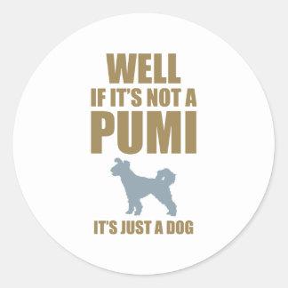 Pumi Round Stickers