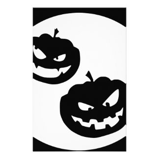Pumkin silhouettes stationery