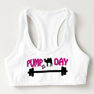 Pump Day! Fitness Humour Sports Bra
